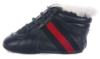Gucci Boys' GG Canvas Web-Accented Booties