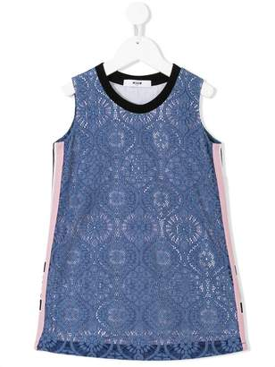 MSGM lace overlay shift dress