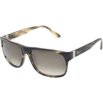 Salvatore Ferragamo Khaki Plastic Sunglasses