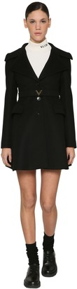 Valentino WOOL & CASHMERE COAT W/ V BELT