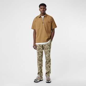 Burberry Short-sleeve Military Cotton Shirt