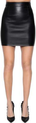 DSQUARED2 Leather Mini Skirt
