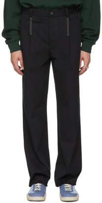 Acne Studios Black Straight Pleated Trousers