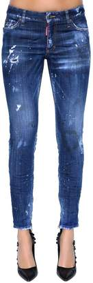 DSQUARED2 Skinny Mid Rise Destroyed Denim Jeans