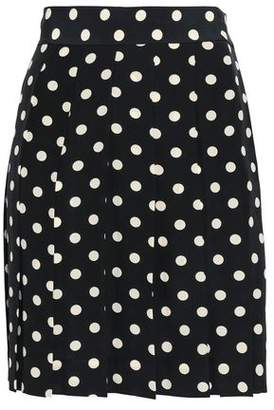 Marc Jacobs Polka-Dot Silk Crepe De Chine Mini Skirt