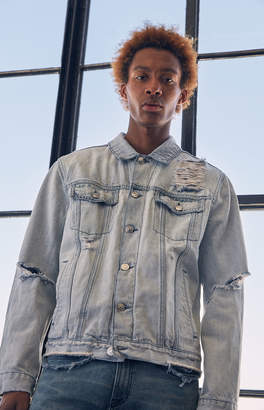 Pacsun Classic Ripped Denim Trucker Jacket
