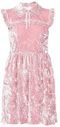 Miu Miu Crushed velvet dress