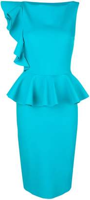 Chiara Boni Dinara peplum hem fitted dress