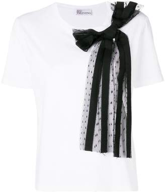 RED Valentino side bow embellished blouse