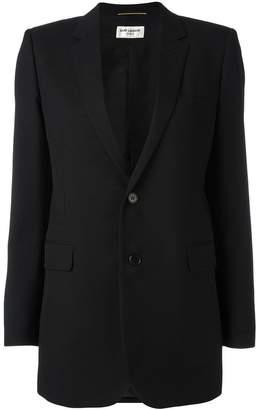 Saint Laurent single breasted tube jacket