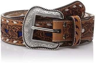 Nocona Men's Natural Wide Buckstitch Belt