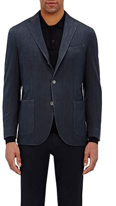 Boglioli Men's Travel Herringbone-Weave Cotton Sportcoat