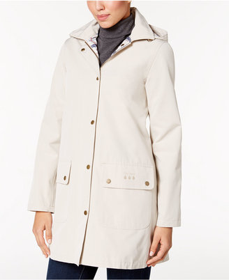 Barbour Gustnado Hooded All-Weather Raincoat $299 thestylecure.com