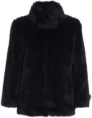 Michael Kors Faux Fur A-line Short Coat