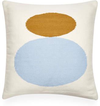 Jonathan Adler Reversible Light Blue Mother/Child Pop Throw Pillow