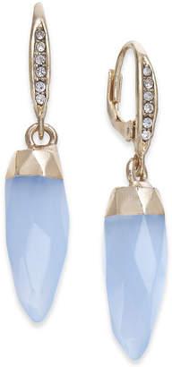 Paul & Pitu Naturally Gold-Tone Stone Spike Drop Earrings