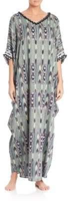 Josie Natori Couture Terrain Cotton Caftan