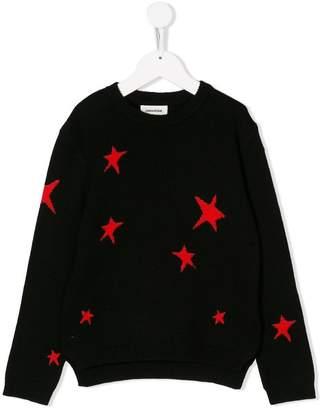 Zadig & Voltaire Kids star pattern jumper