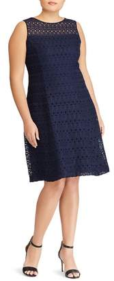 Lauren Ralph Lauren Mondriana Eyelet Fit & Flare Dress