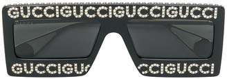 Gucci mask-frame sunglasses
