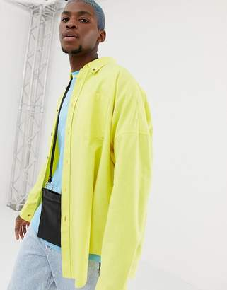 Collusion COLLUSION oversized oxford shirt in yellow