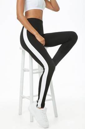 Forever 21 Striped-Side Leggings
