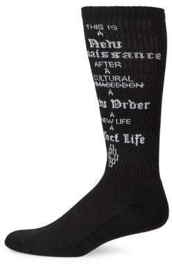 Marcelo Burlon County of Milan Perfect Life Graphic Long Socks