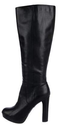 MICHAEL Michael Kors Leather Round-Toe Knee-High Boots
