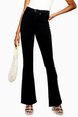 Topshop Black Jamie Flare Jeans