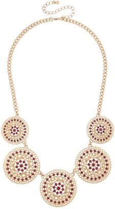 MIXIT Mixit Womens Multi Color Statement Necklace