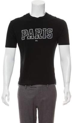Christian Dior Logo Crew Neck T-Shirt