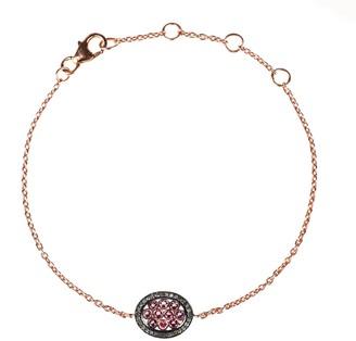 Latelita Diamond Oval Pink Tourmaline Bracelet