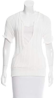 Jean Paul Gaultier Open Knit Short Sleeve Top