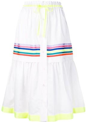 Mira Mikati stripe panel tiered skirt
