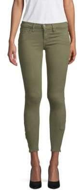 Zip Cuff Skinny Jeans