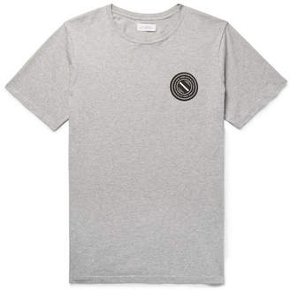 Saturdays NYC Printed Mélange Cotton-Jersey T-Shirt