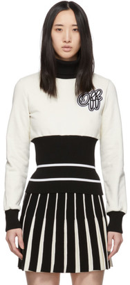 Off-White Off White Black and Ribbed Cheerleader Turtleneck
