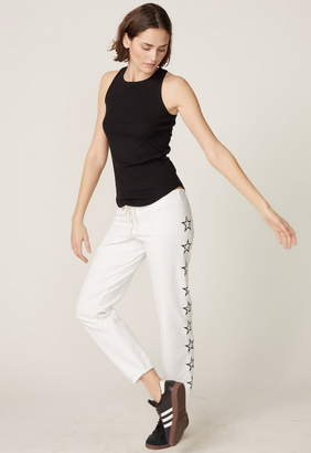 Monrow Vintage Sweatpants With Outline Star Embroidery