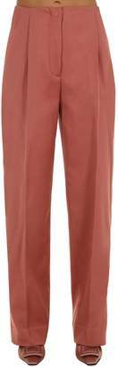 Lardini Loose Fit Mid Rise Cotton Blend Pants