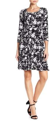 Karen Kane 3/4 Length Sleeve Floral Dress