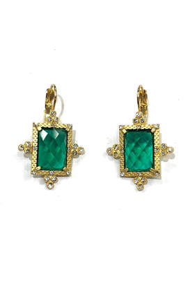 Artdeco BeJe Emerald Art-Deco Earrings