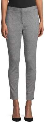 Calvin Klein Houndstooth Tapered-Leg Pants