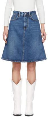 Acne Studios Blue Bla Konst Shadow Miniskirt