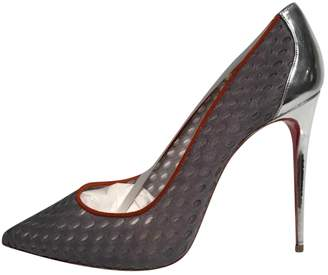 Christian Louboutin Fifi Grey Leather Heels
