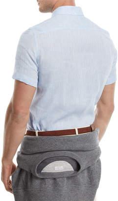 Brunello Cucinelli Western-Style Linen Shirt