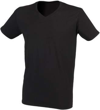 Skinni Fit Men Mens Fee Good Stretch V-Neck Short Seeve T-Shirt