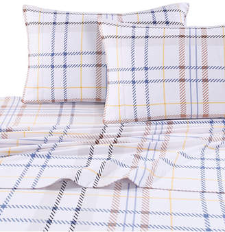 Tribeca Living Modern Plaid Luxury Extra Deep Pocket Flannel Twin Xl Sheet Set Bedding