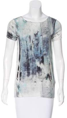 Helmut Lang Printed Short Sleeve Top