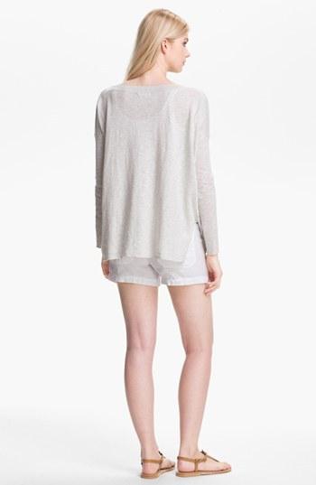 Vince Cotton Sweater Heather Cloud Medium