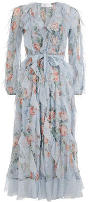 Zimmermann Bowie Waterfall Long Dress